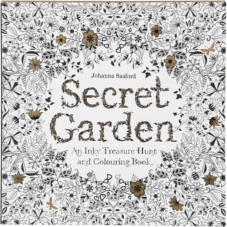 Libro para colorear, Jardín secreto, 25x25 cm, 96 páginas