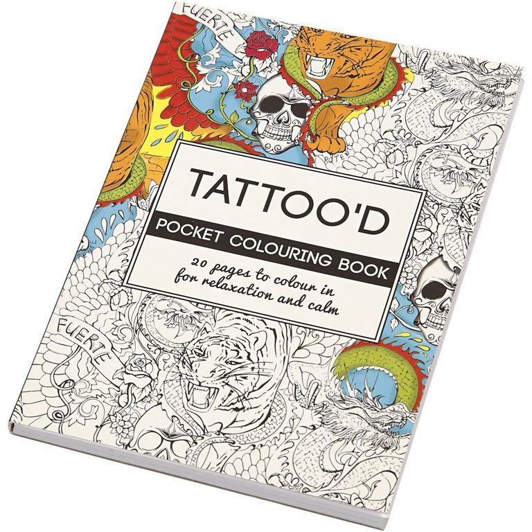 Colouring Book Mindfulness Tattoos 105x145cm