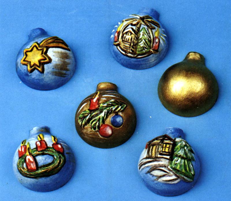 Mini Weihnachtskugeln.Gießform Mini Weihnachtskugeln