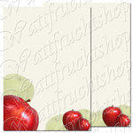 "Motif paper stationery ""Apple """