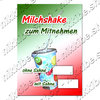 Offer Poster Milchshake takeaway Text in German