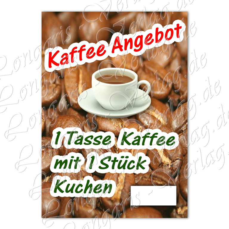 kaffee und kuchen plakat angebotsplakat laminiert und. Black Bedroom Furniture Sets. Home Design Ideas
