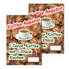 "Offer Poster ""Coffee and cake"" Text in German"