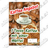 "Offer Poster ""Coffee and Waffle"" Text in German"