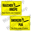 Sign: Smoking pub