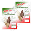 Offer Poster Soft ice cream takeaway Text in German