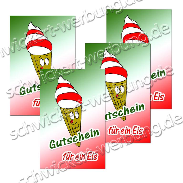 Eis essen basteln gutschein Gutschein