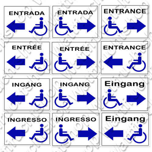 File: Sign, Entrance for wheelchair users