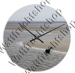 Clock Buoy at low tide I, with own text