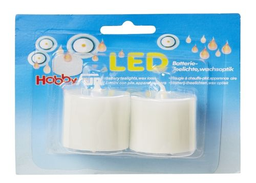 LED Battery tealights, wax look
