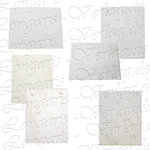 Wall tile white pre-drilled 20 x 25 cm