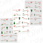5x Print file 6 table cards for Christmas