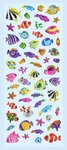 Fishes II, Glossy Stickers 1 sheet 7 x 16,9 cm