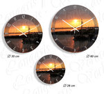 Sunrise I Wall clock in 3 sizes