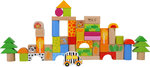 50 Wooden blocks Zoo