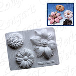 Mould for soap casting Summer flowers
