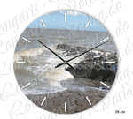 Breakers in north dike Wall clock 26 cm