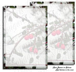 Red berries in the snow stationery