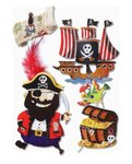 SALE 3D Sticker Piraten beweglich