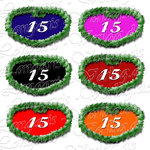 PNG file sign anniversary number 15