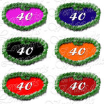 PNG file sign anniversary number 40