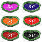 PNG file sign anniversary number 50