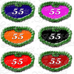 PNG file sign anniversary number 55
