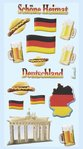 Softy Stickers Germany, 1 sheet ca. 9,5x18cm