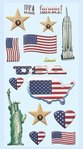 Softy Stickers United States, 1 sheet ca. 9,5x18cm