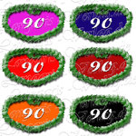 PNG file sign anniversary number 90
