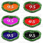 PNG file sign anniversary number 95