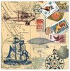 Papierserviette Around the World 33x33 cm