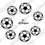 "Outline Stickers football, 1 sheet 3.94"" x 9.06"""