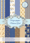 Papel Designer, Nautical Gold 34 folhas