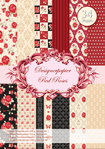 Designer paper set Red Roses 34 sheets