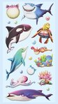 Softy Stickers Marine animals I 1 sheet 9,5x18cm