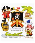 SALE 3D Stickers XXL Pirates ll 30 x 30 cm