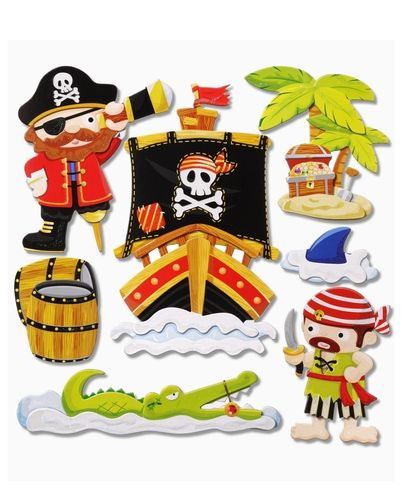 SALE 3D Sticker XXL Piraten Il 30 x 30 cm