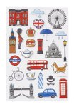 Glossy Stickers England, 1 sheet 10 x 15 cm