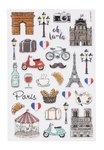 Glossy Stickers France, 1 sheet 10 x 15 cm