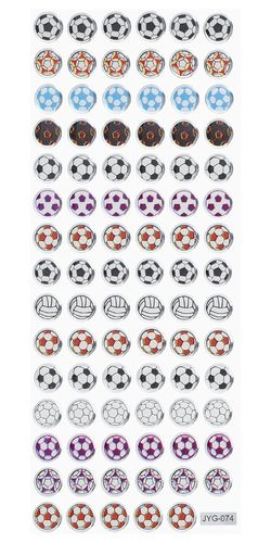 Soccer, Glossy Stickers 1 sheet 7 x 16,9 cm