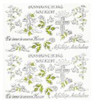 Design Sticker Mourning I 1 sheet