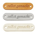 "4 Label ""selbst gemacht"" 45 x 12 mm,"