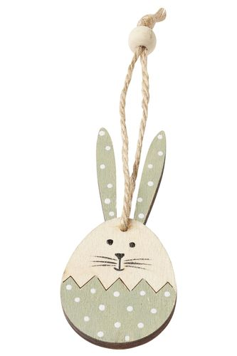 2 Wooden rabbits 8 cm with cord