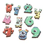 Decorative numbers, 0-9 Little Monsters