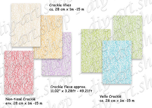 Crackle fleece, decorative fabric