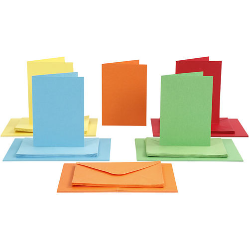 50 Cards + envelopes 5 Colors