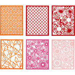 24 pcs Pad With Cardboard Lace Patterns