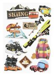 3D Wintersport Sticker